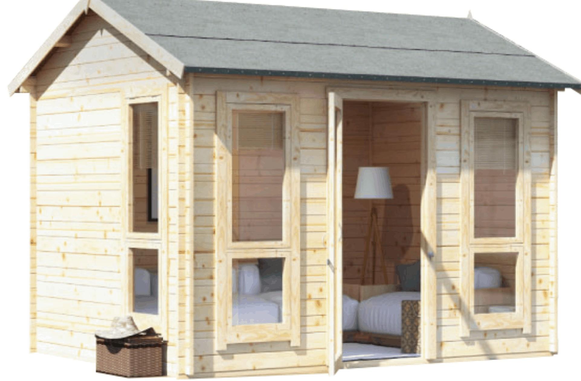 BillyOh Darcy Log cabin reverse apex roof wooden summerhouse