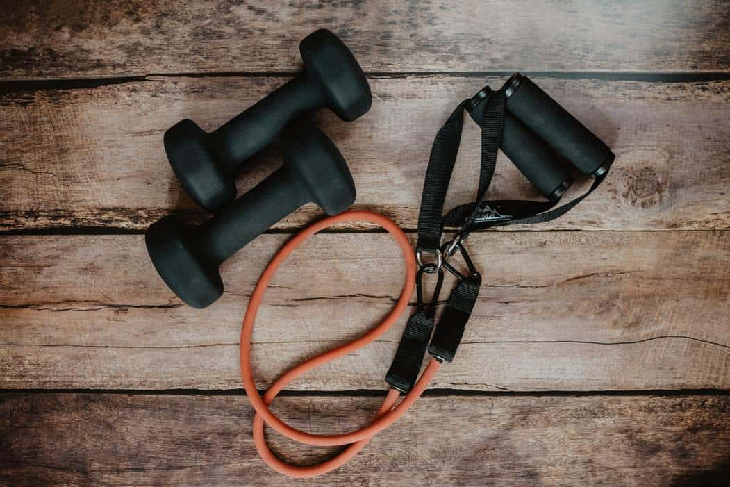 Gym weights and jump rope