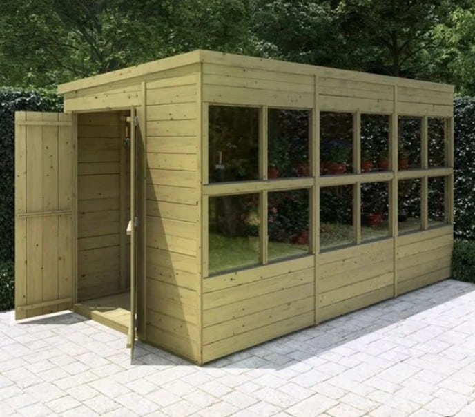BillyOh Planthouse Tongue and Groove Pent Potting Shed