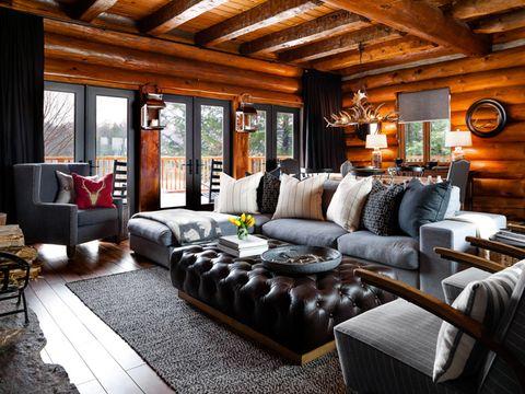 country living urban modern log cabin interior