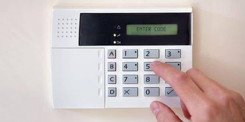 burglar alarm with keypad