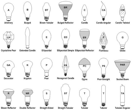 lamptech bulb types chart/infographic