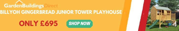 BillyOh Gingerbread Tower Playhouse Thin Ad Banner