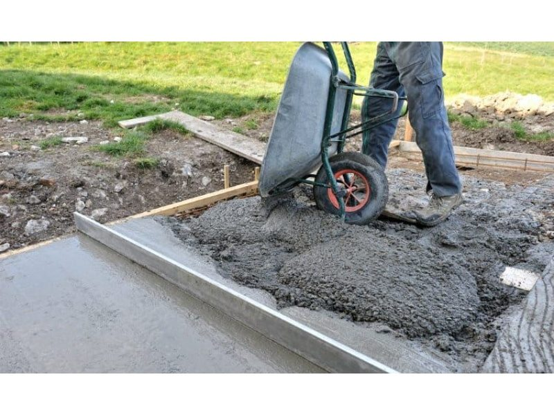 The process of creating a shed concrete base
