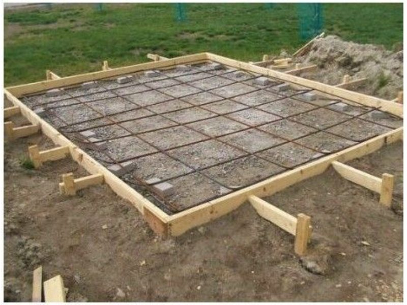 A layout of a shed base made of concrete