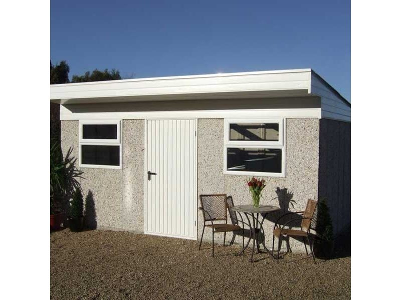 A traditional concrete building is similar to the standard shed range