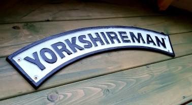 pub sign on wood saying 'Yorkshireman'