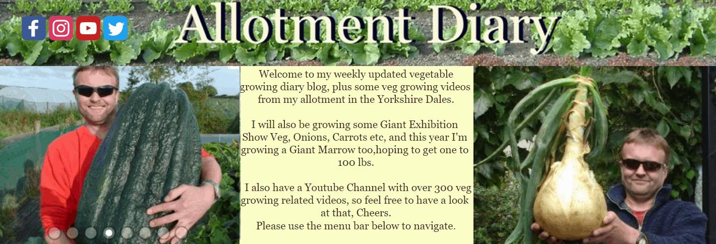 Allotment Diary Blog Banner