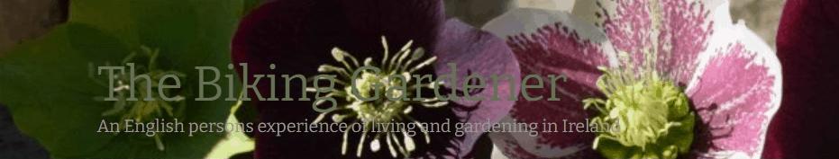 The Biking Gardener blog banner