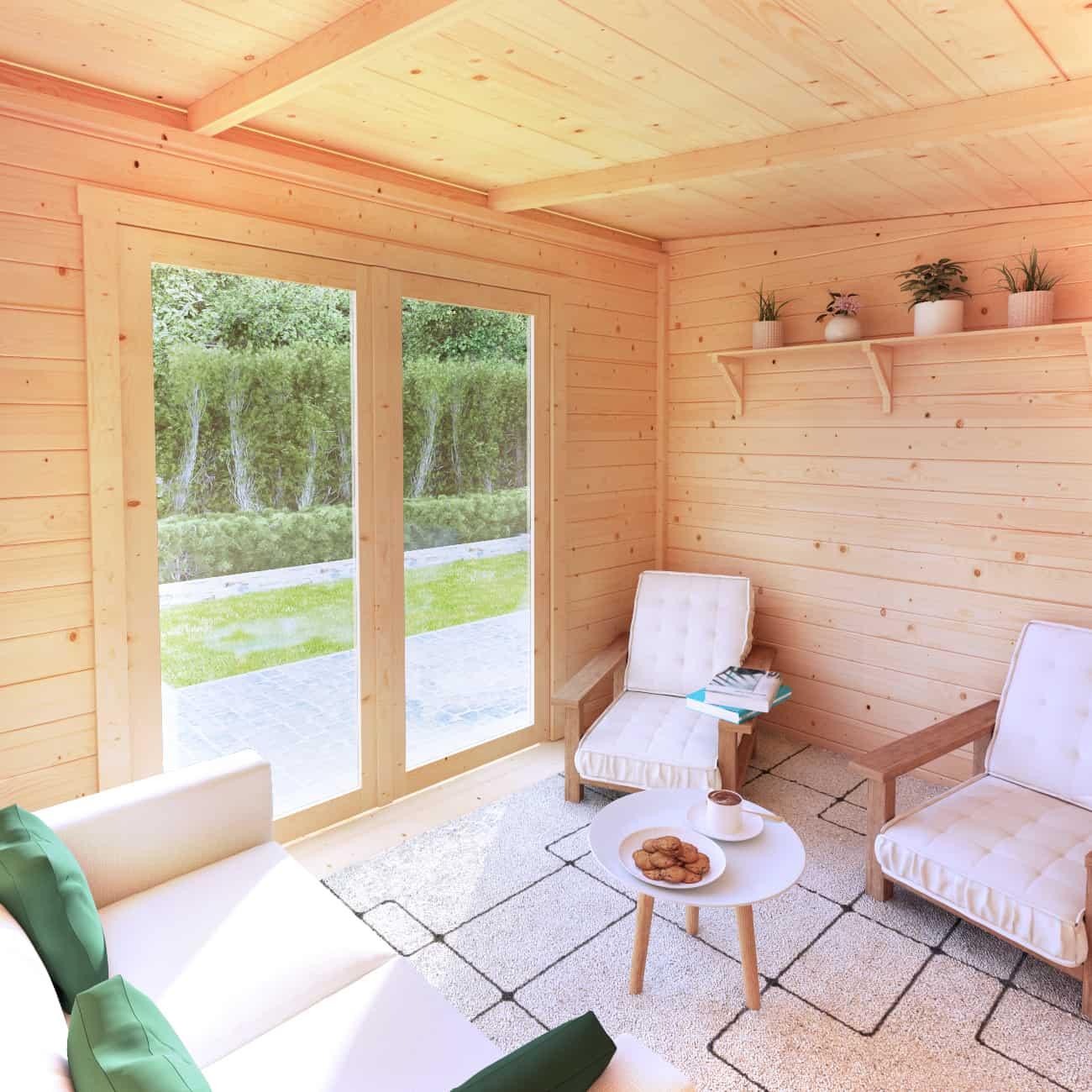 BillyOh Tianna Pent roof wooden summerhouse interior