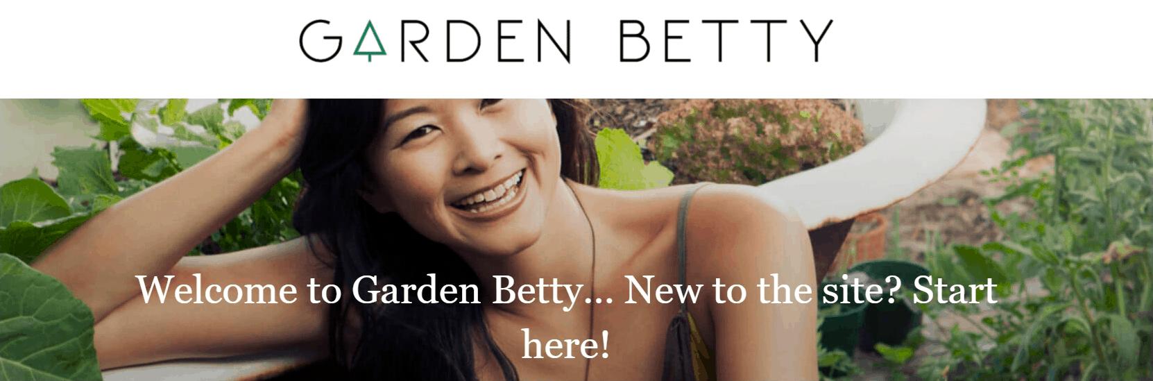 Garden Betty Blog banner