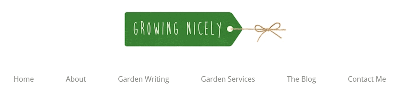 Growing Nicely blog banner