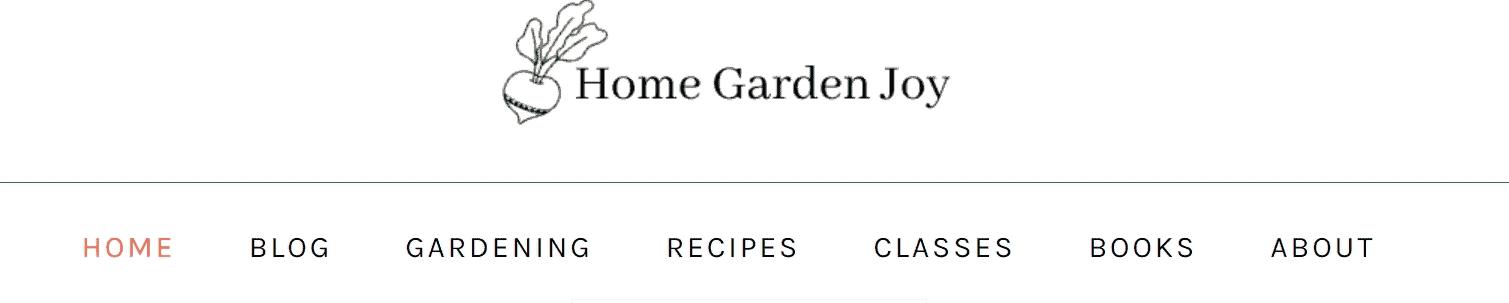 Home Garden Joy blog banner