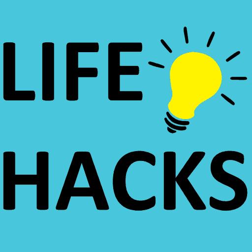 Life Hacks banner with lightbulb