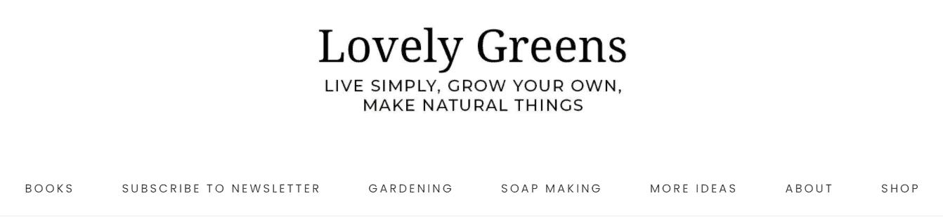 Lovely Greens blog banner