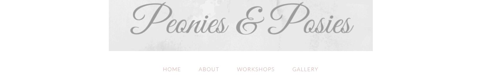 Peonies & Posies blog banner