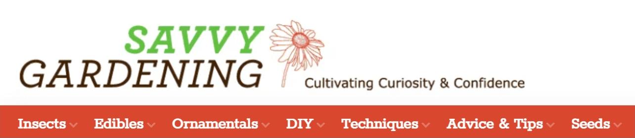 Blog banner for Savvy Gardening