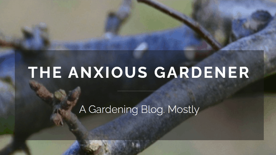 The Anxious Gardener Blog banner