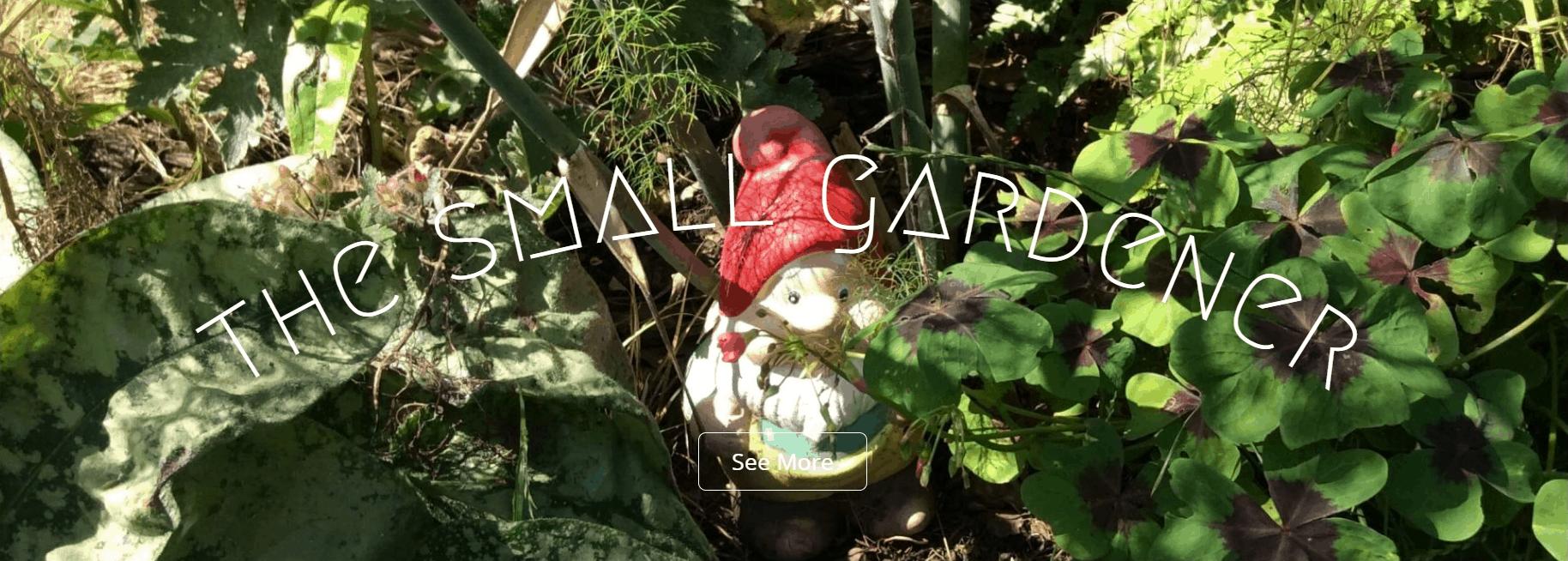 The Small Gardener blog banner
