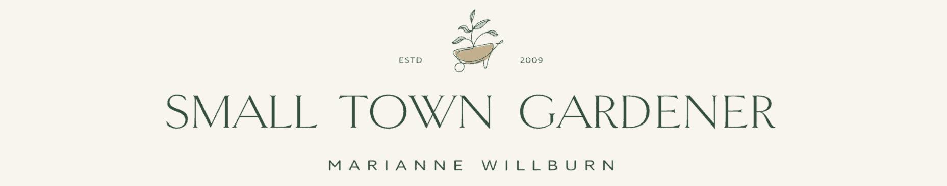 Small Town Gardener blog banner