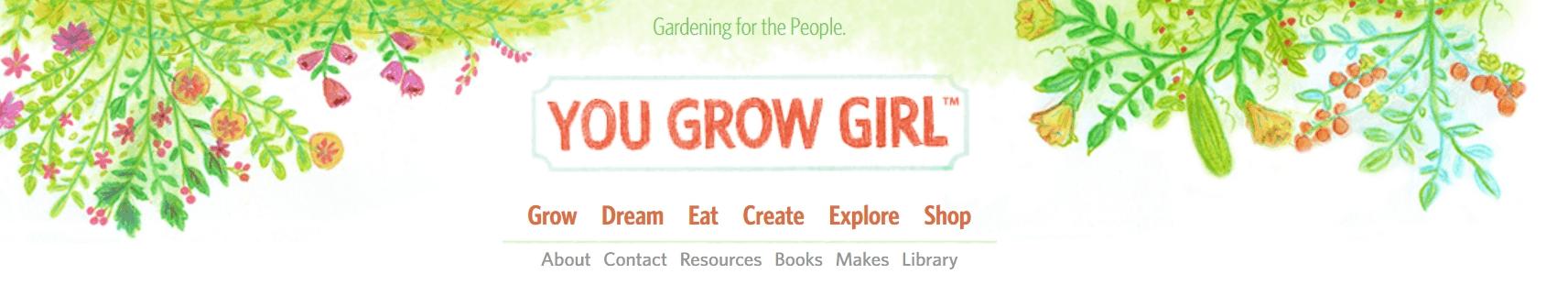 You Grow Girl blog banner