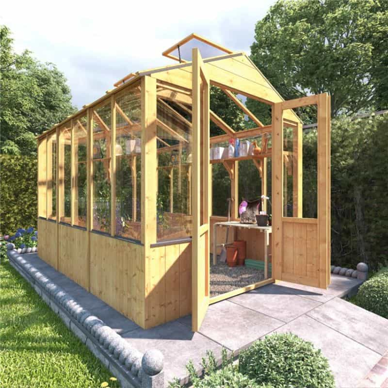 Clearwall Lincoln Wooden Greenhouse