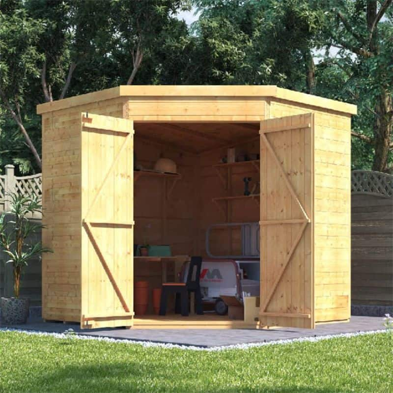 Best large wooden sheds - BillyOh Expert Tongue and Groove Corner Workshop Shed