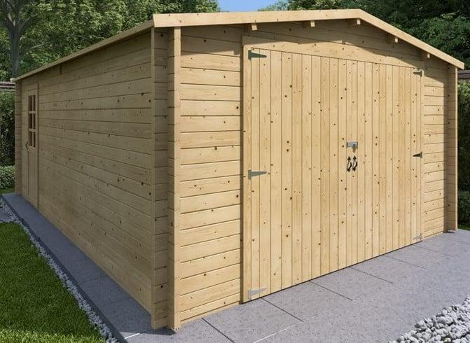 wooden garage maintenance