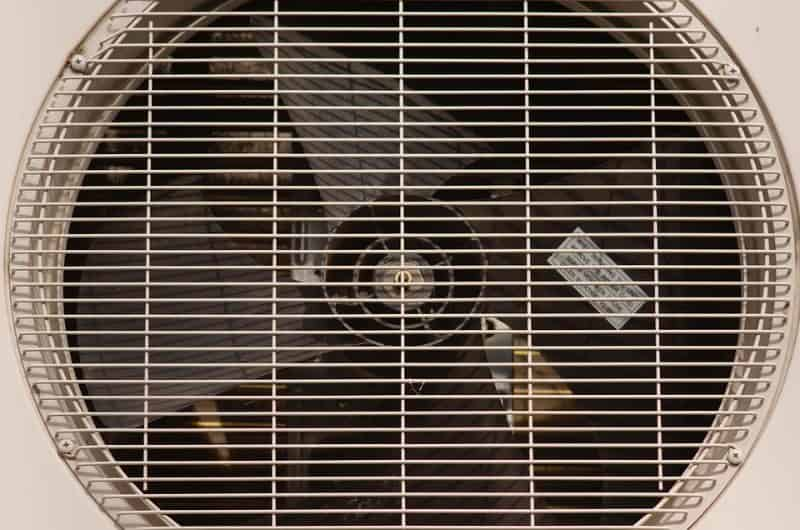 air fan behind vent