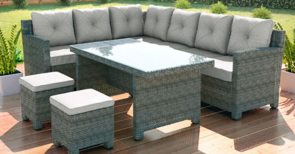 Garden furniture for a small garden