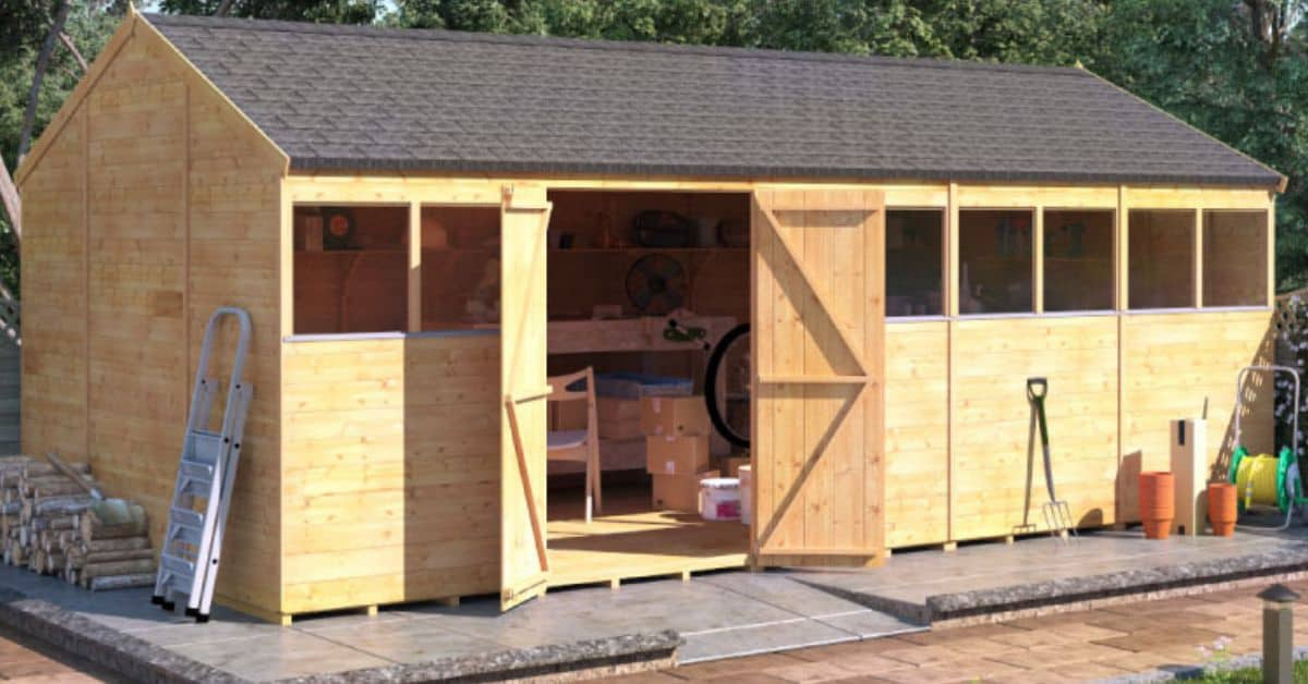 Benefits of large sheds