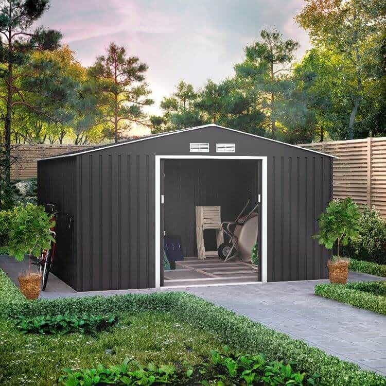 BillyOh Ranger Apex Metal Shed With Foundation Kit
