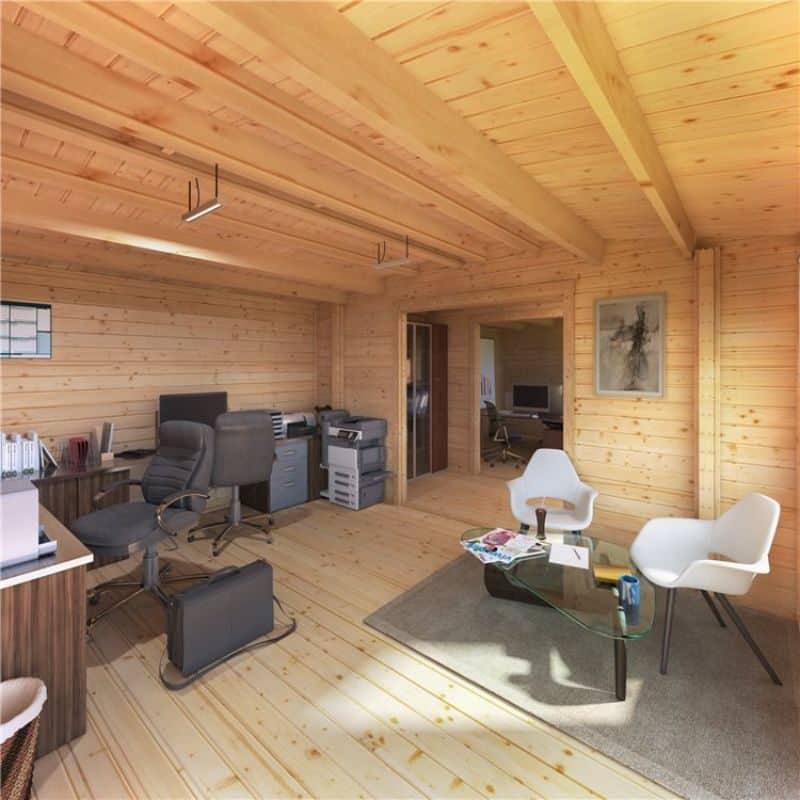 BillyOh log cabin interior