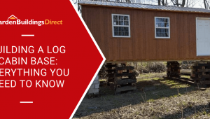 How to build a log cabin base with raised log cabin on stilts